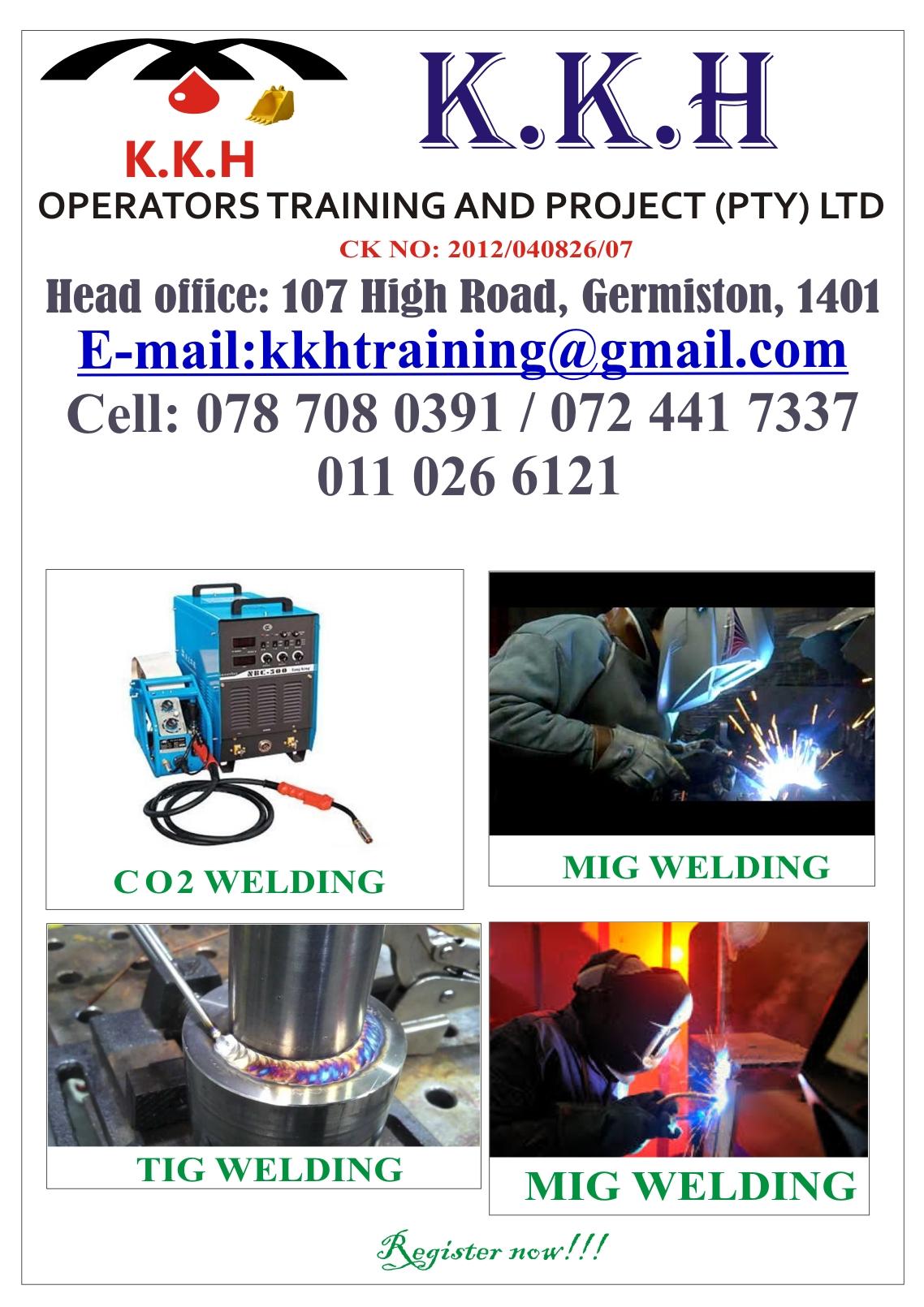 Plumbing,Welding,Boilermaker,Grader,Excavator,Mobile Crane,Stick Welding Training Call 0787080391