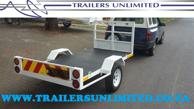 TRAILERS UNLIMITED CUSTOM BUILD FLAT BED TRAILER.