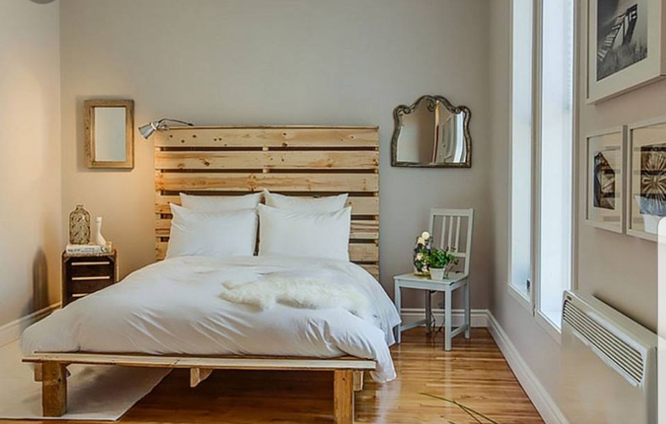 Superior Double Bed Pallet Headboard Set