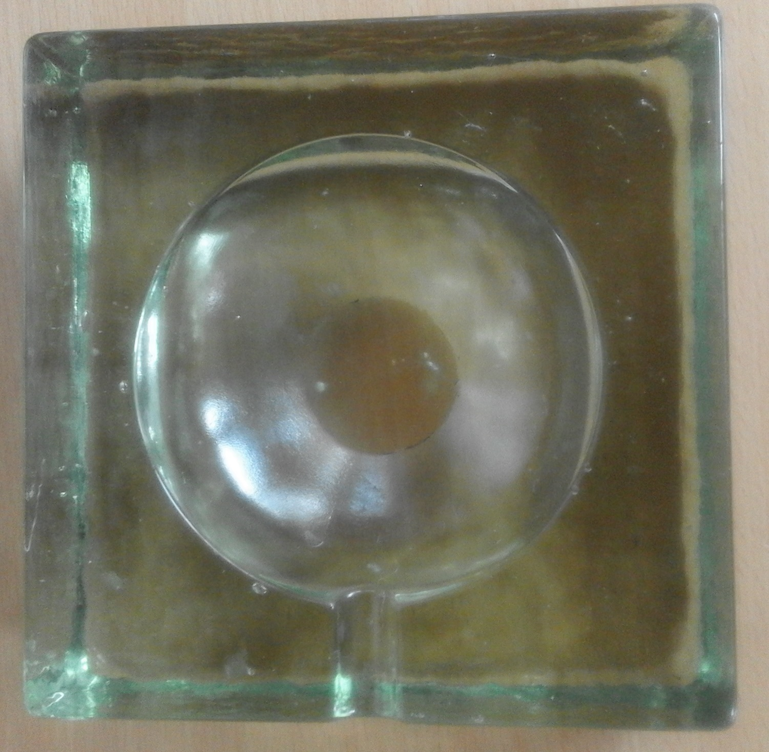 Massive Glass Ashtray. Collectable, In good condition.