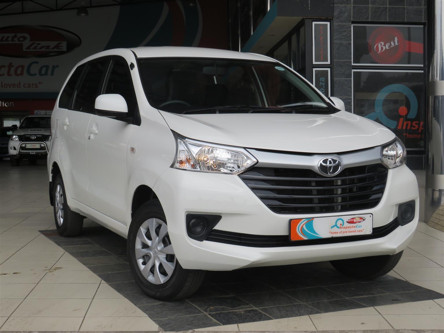 2017 Toyota Avanza 1.3 SX