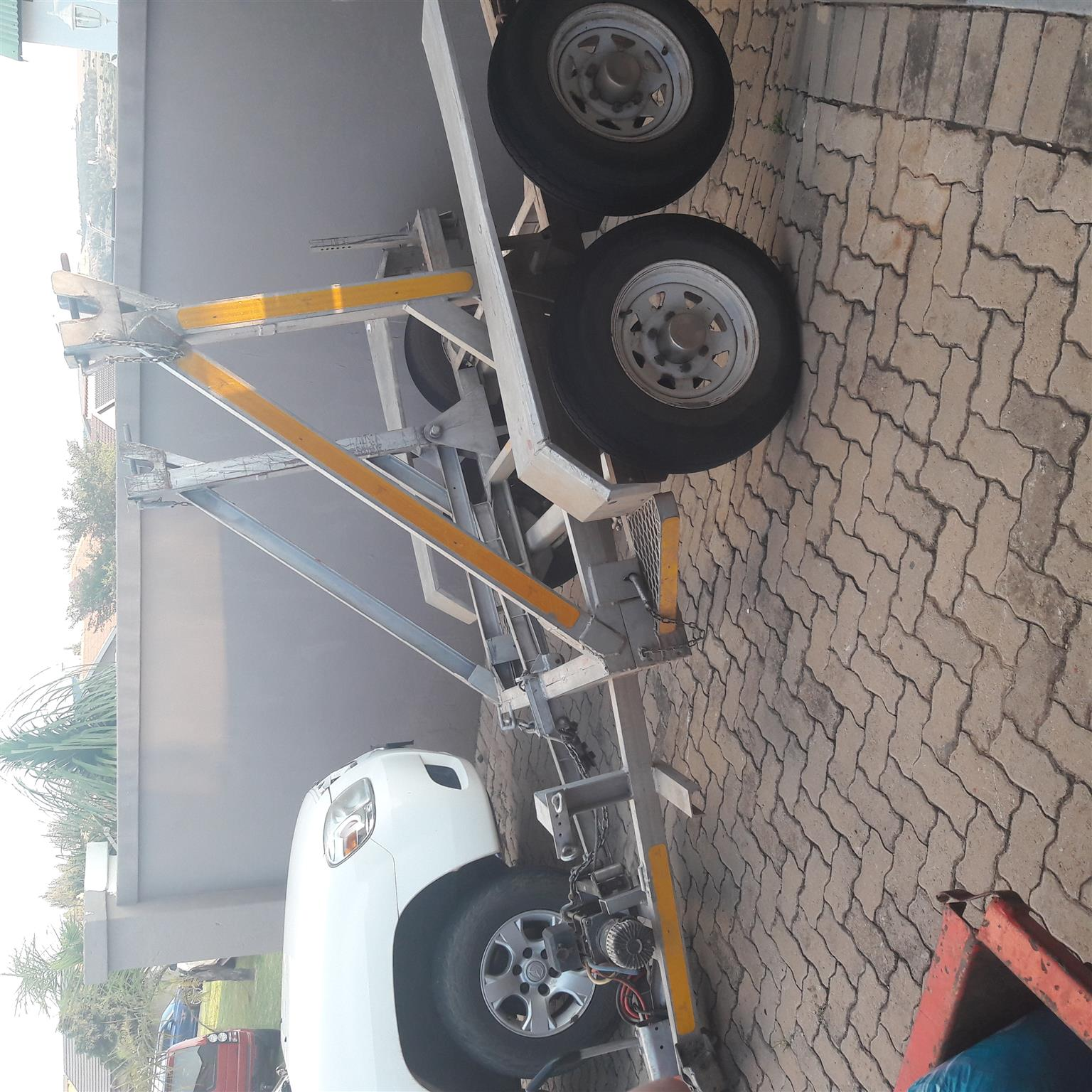 Skip trailer with skips for sale