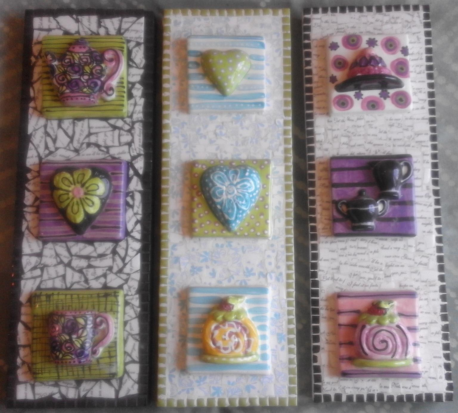 Mosaic wall decor items