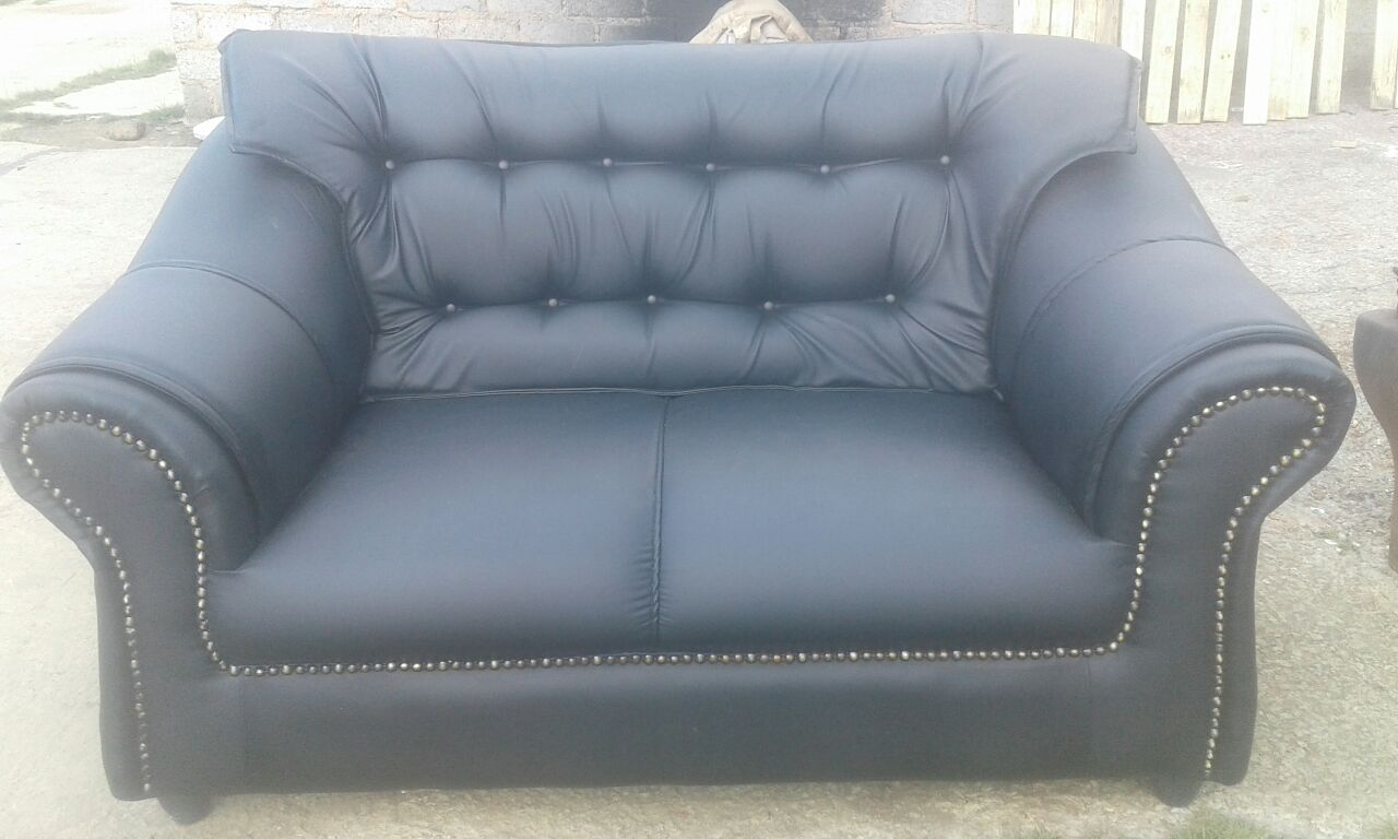 Nepal leather couch