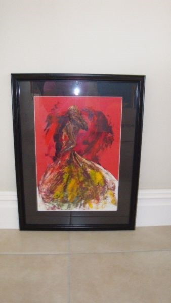 Affordable, original and framed art by Irish artist Ros Webb - flamenco dancer