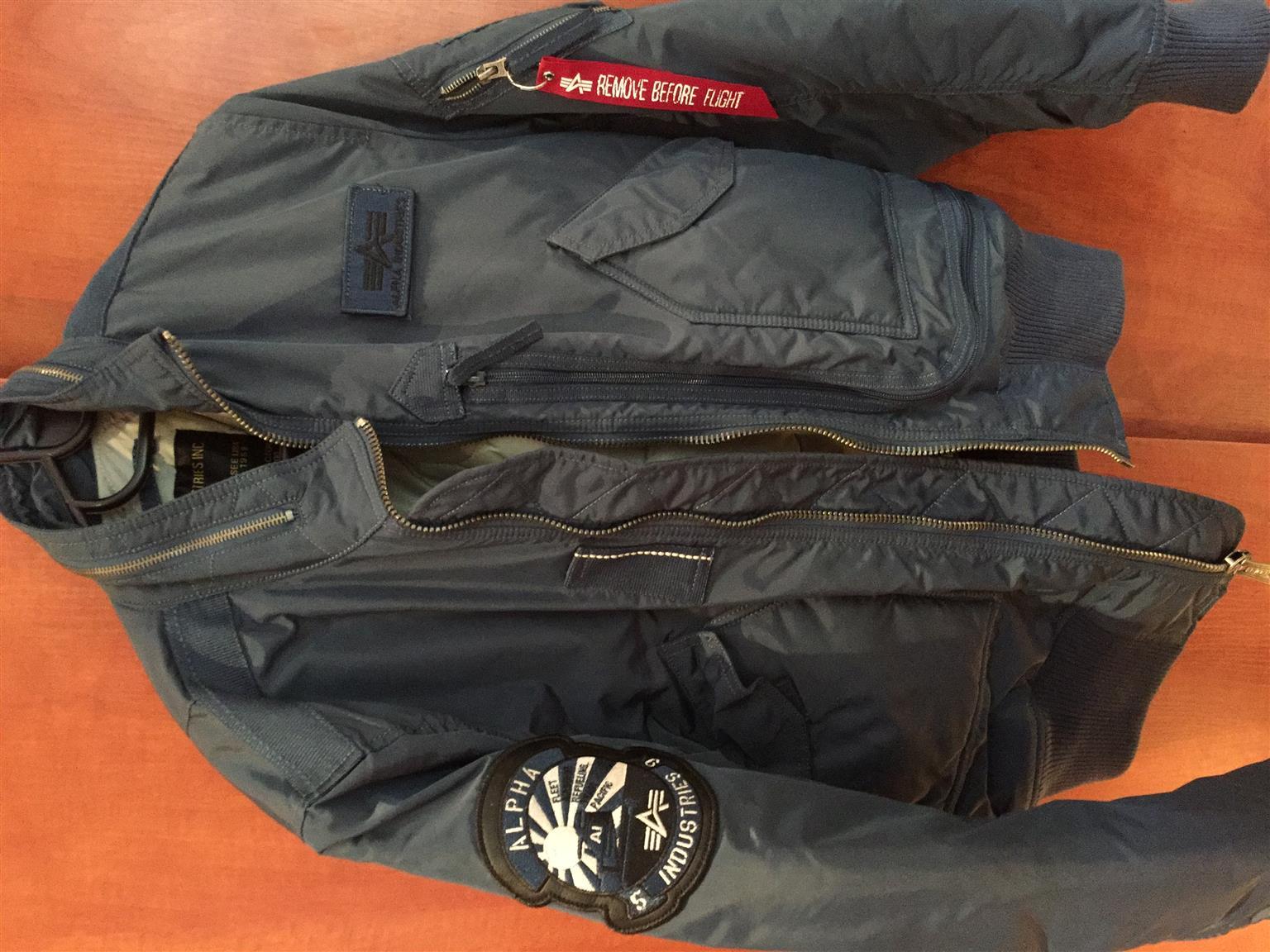 Alpha engine bomber jacket for sale