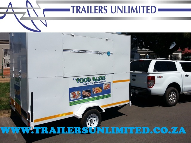TRAILERS UNLIMITED. 3400 X 1800 X 2000 MOBILE FOOD KITCHEN.