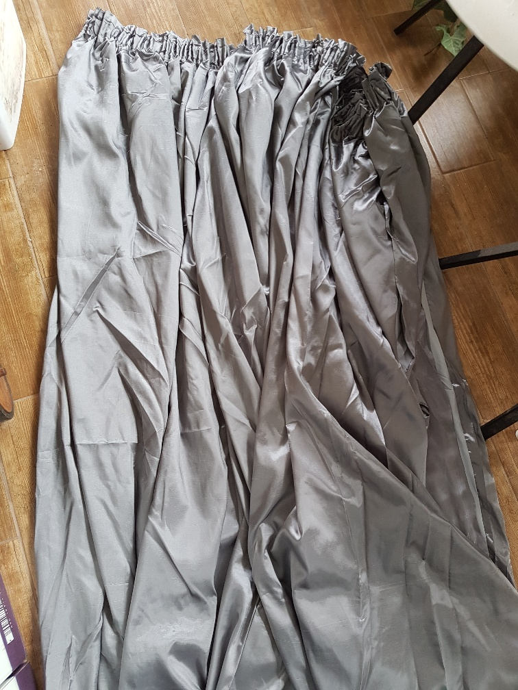 TAPED LINED CURTAINS