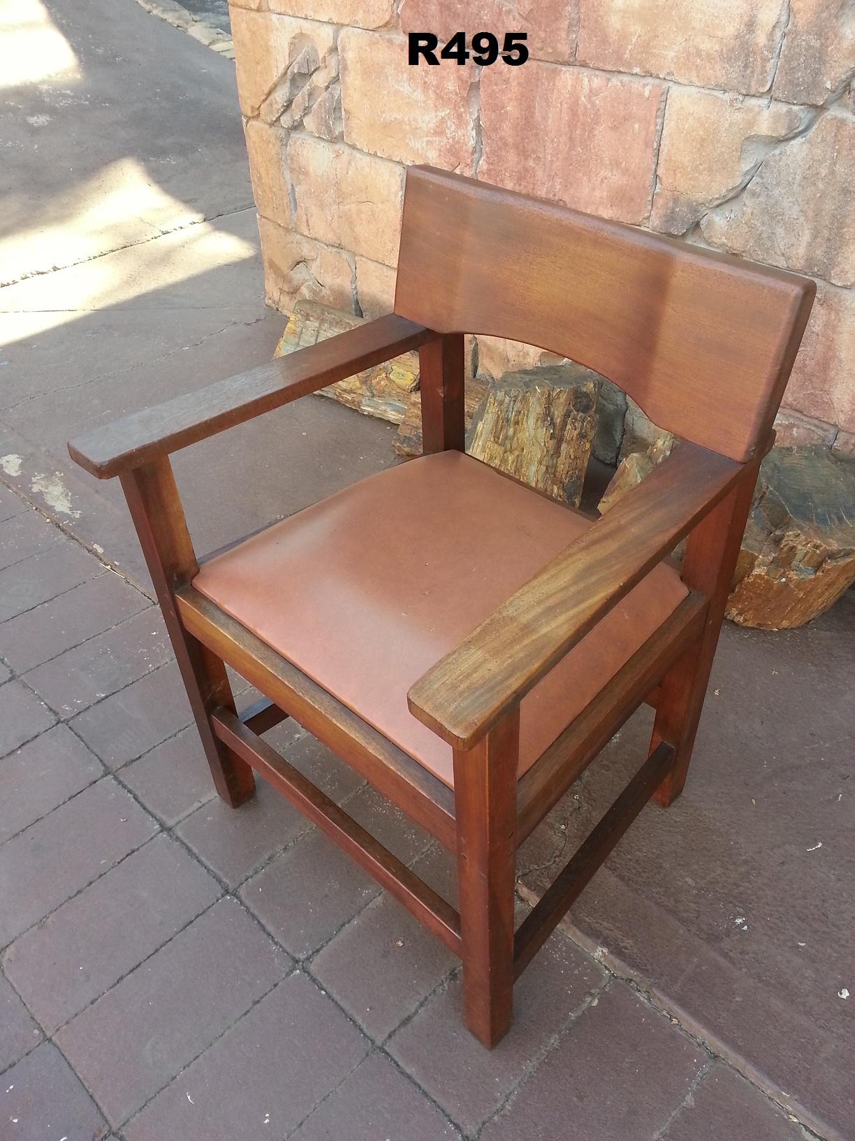 Vintage Teak Armrest Chair