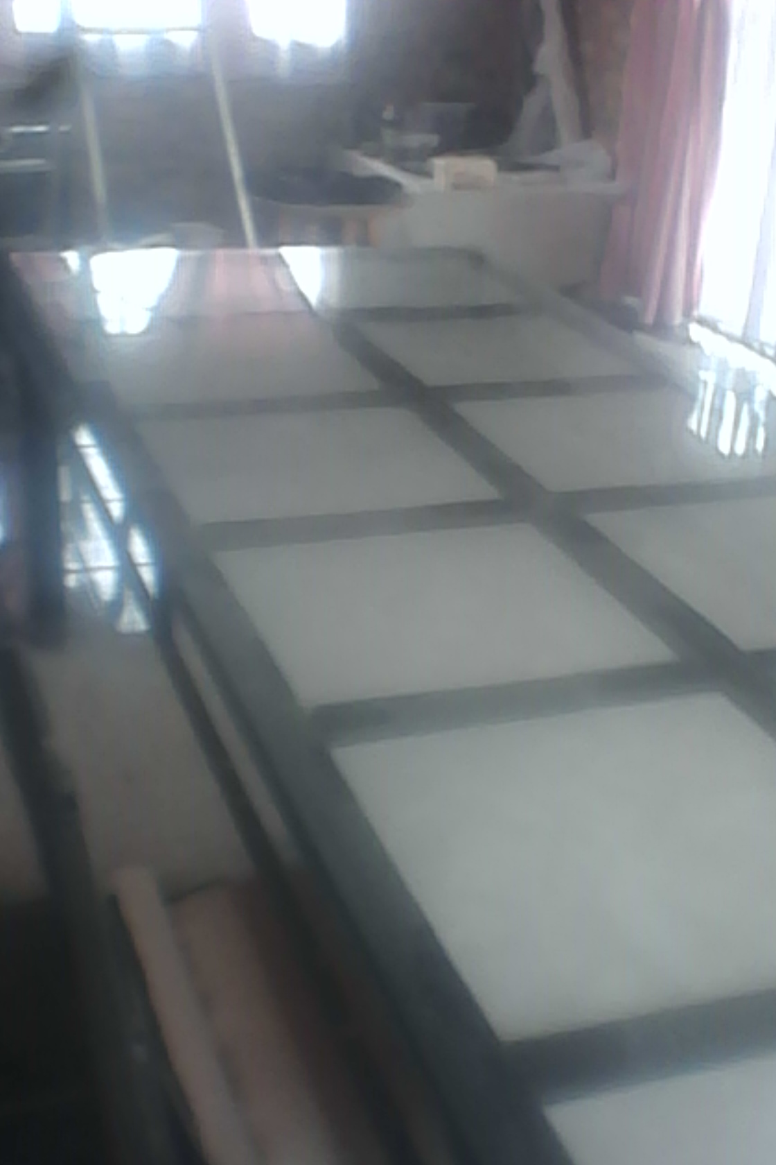 10 Seater Garden set, steel table 6 x 1.5 m with 10 chairs, tile inserts R 1500.00. Collect at Vaal Marina.