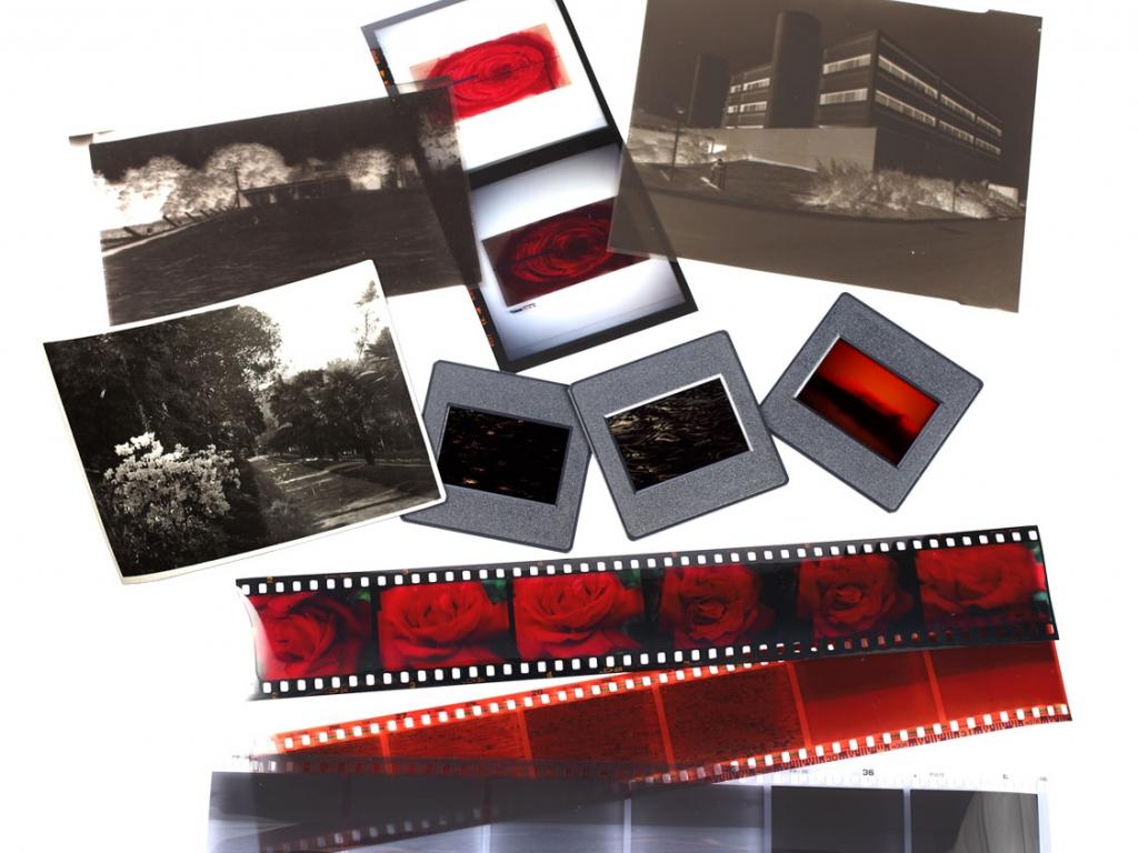 Slides Negatives Video Tapes