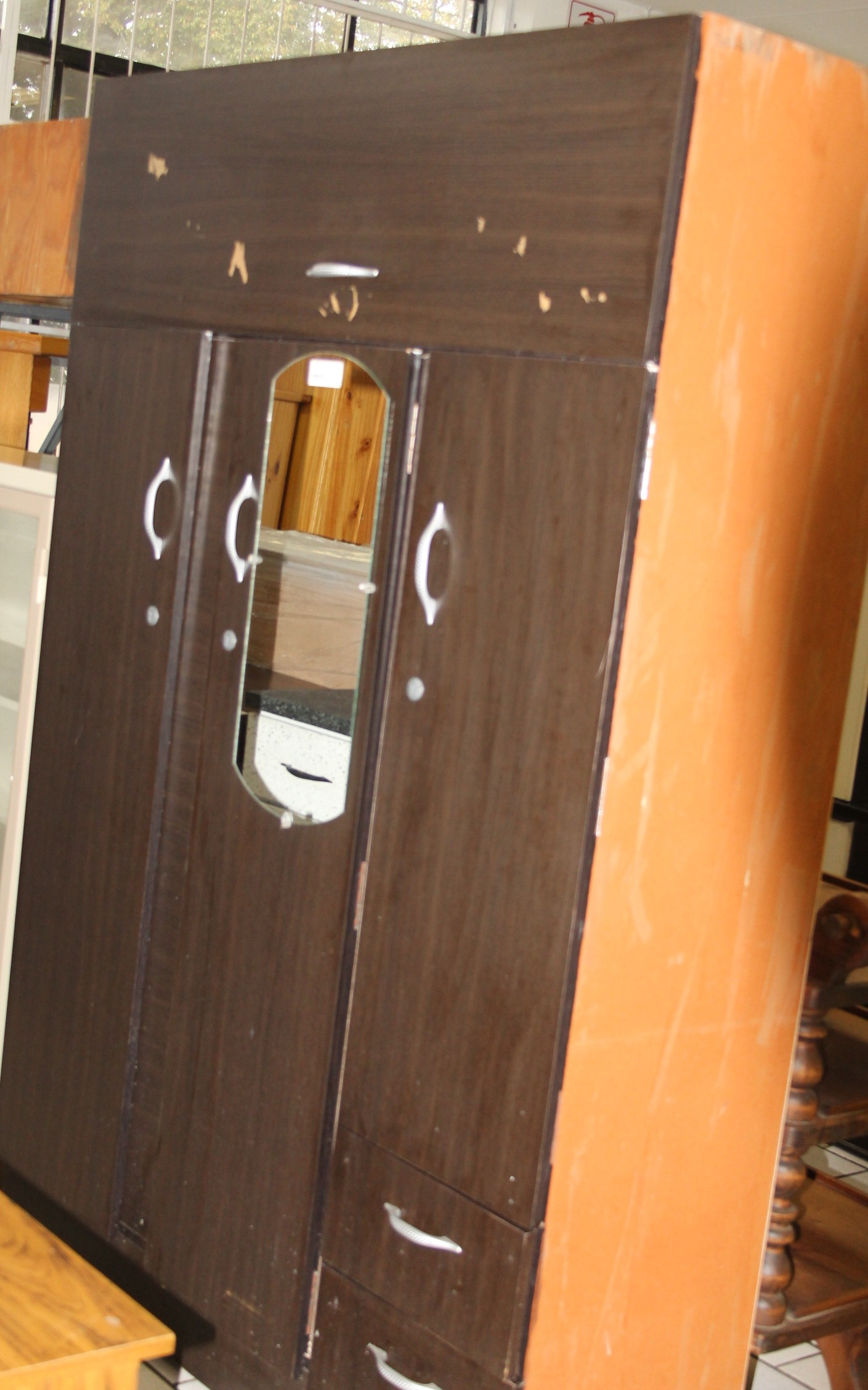 3 Door wardrobe S028842d #Rosettenvillepawnshop