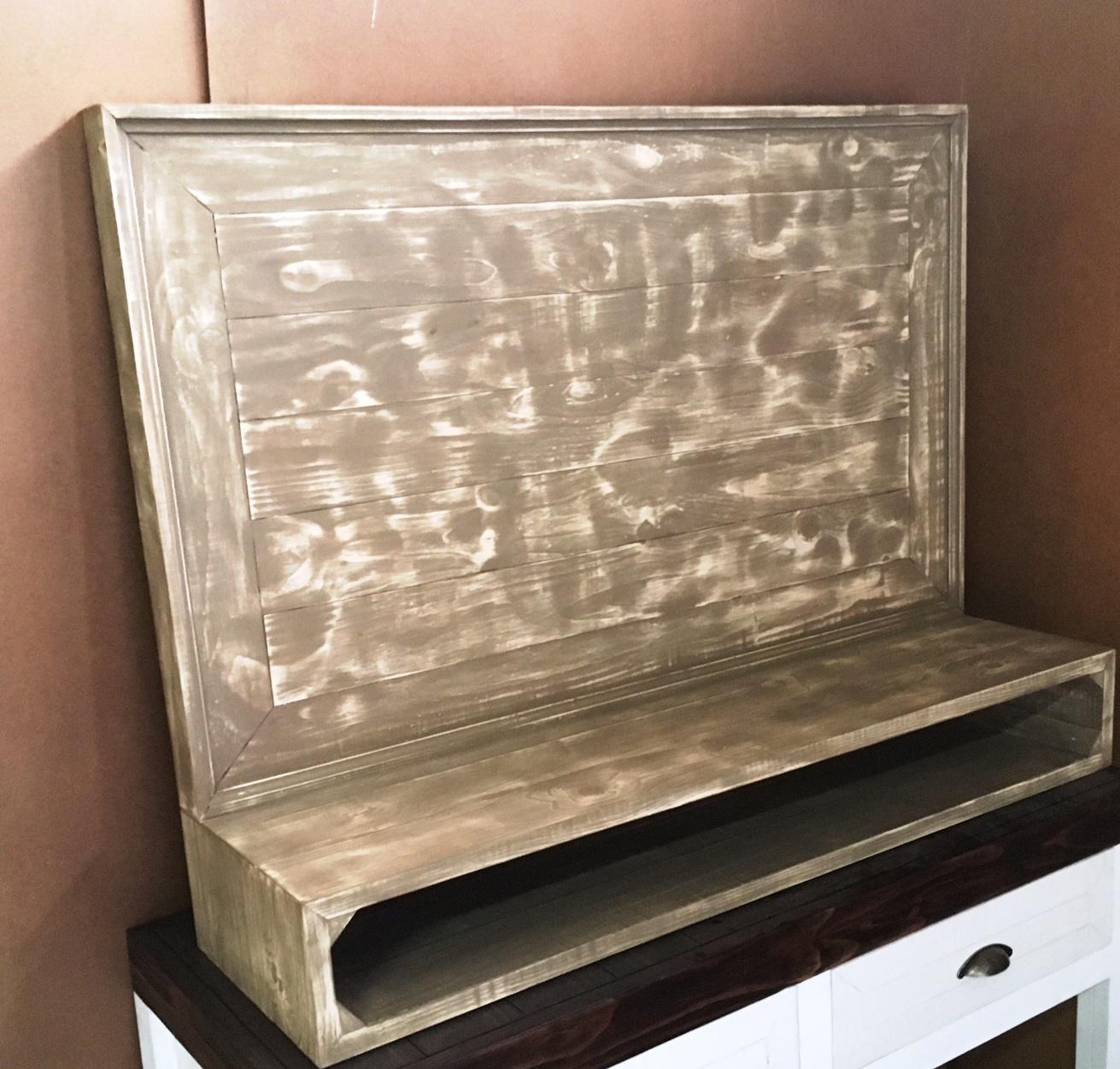 Tv display wall unit Cottage series 1200 Glazed