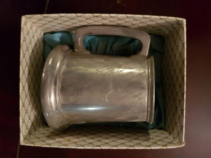 Antique Pewter Beer Mug