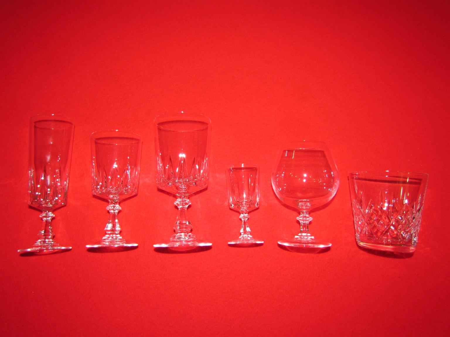 French Crystal Glasses
