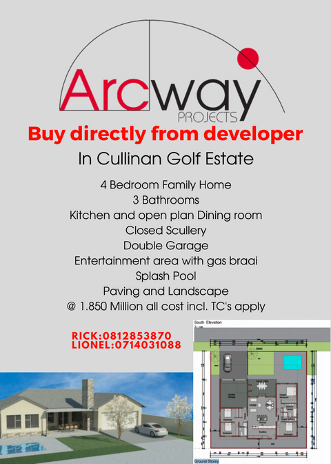 R1850 00.00-BUY DIRECTLY FROM THE DEVELOPER-PLANS READY FOR YOUR PERSONAL STAMP!