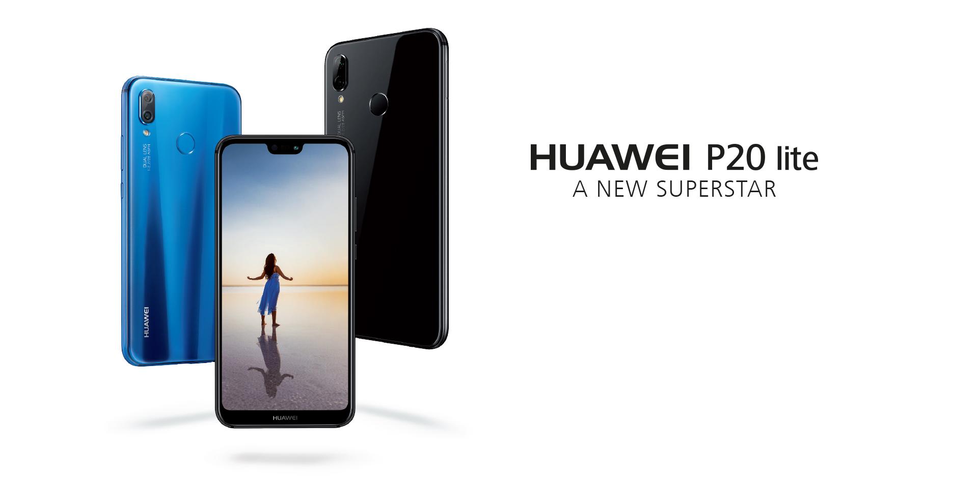 Huawei P20 Lite 64GB 4G LTE Bundle - Black