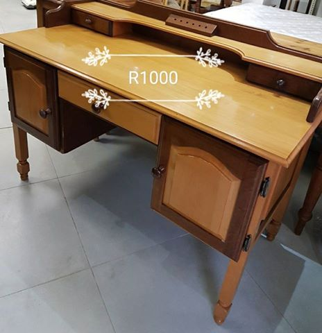 Wooden dresser without mirror