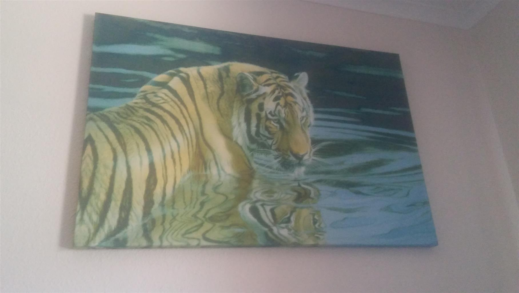 Big tiger canvas wall picture