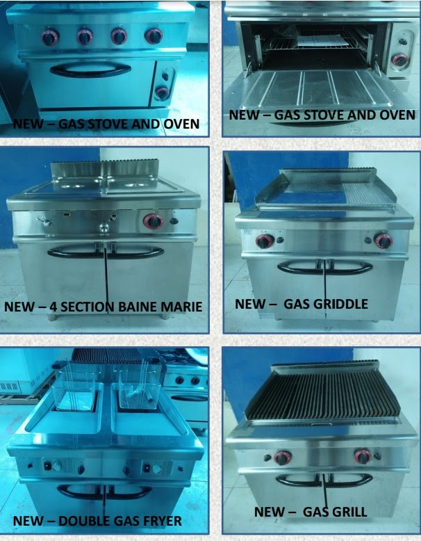 Commercial Kitchen Equipment Sale retail value R350 000,00 now only R200 000,00