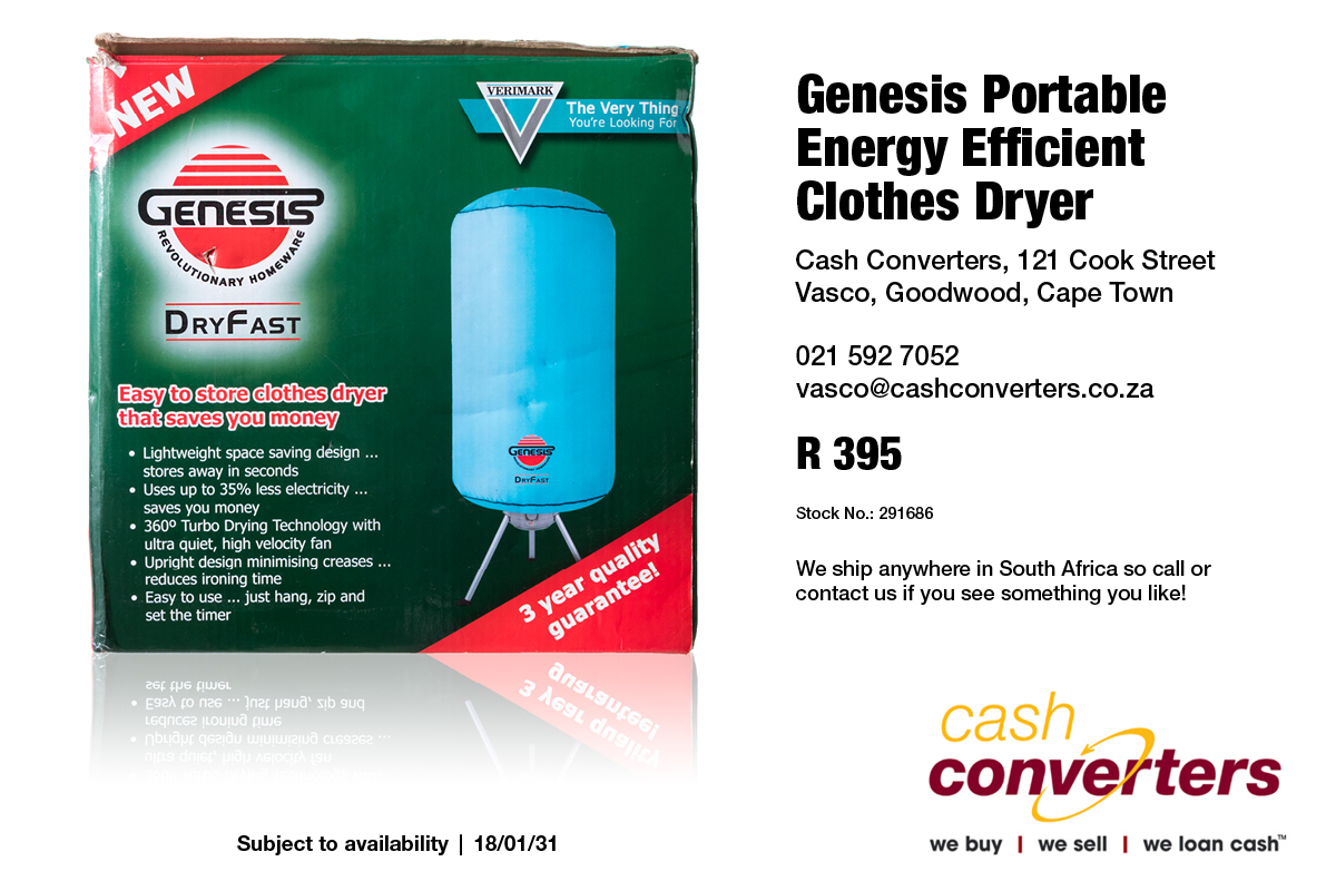 Genesis Portable Energy Efficient Clothes Dryer