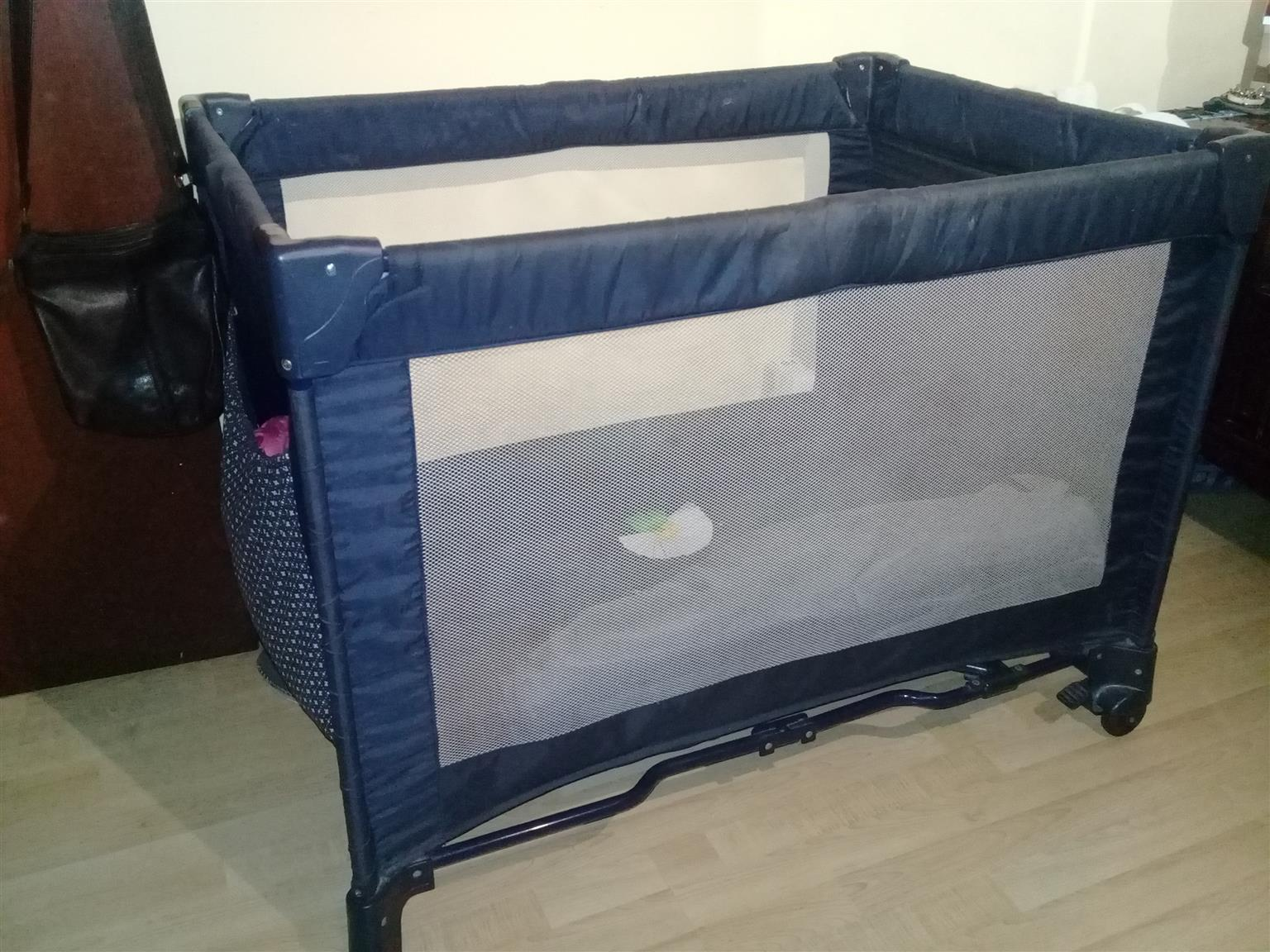 Folding Camping Cot with large Bassinet