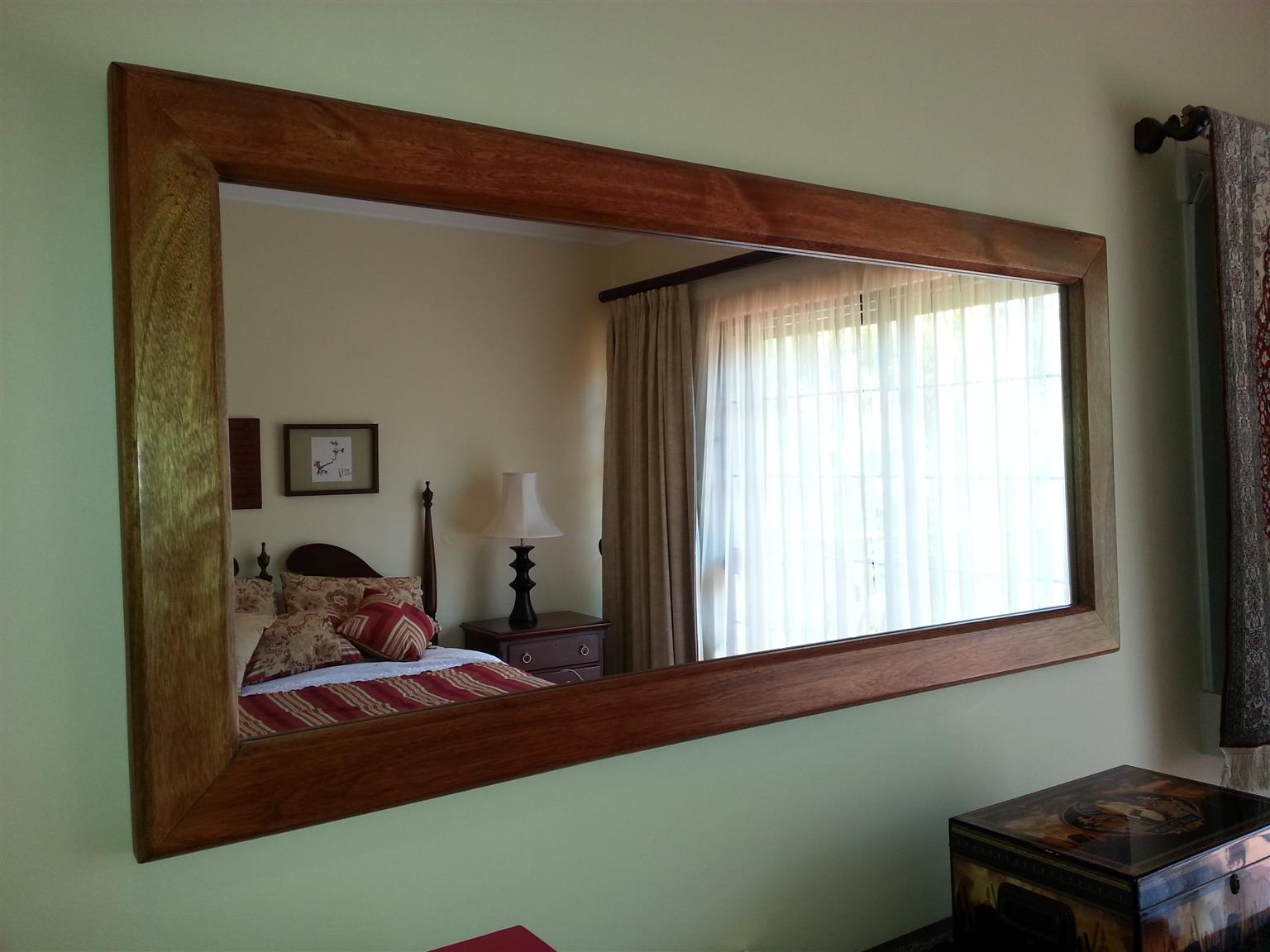 Solid Teak wall mirror