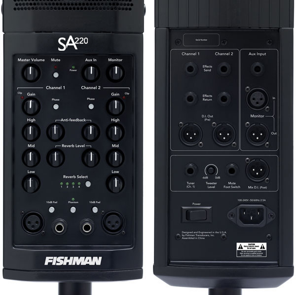 Sound System - Fishman SA220 Solo Performance System