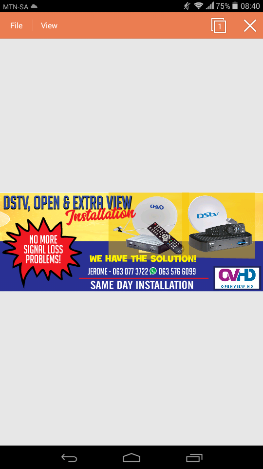 DSTV & OpenView installations