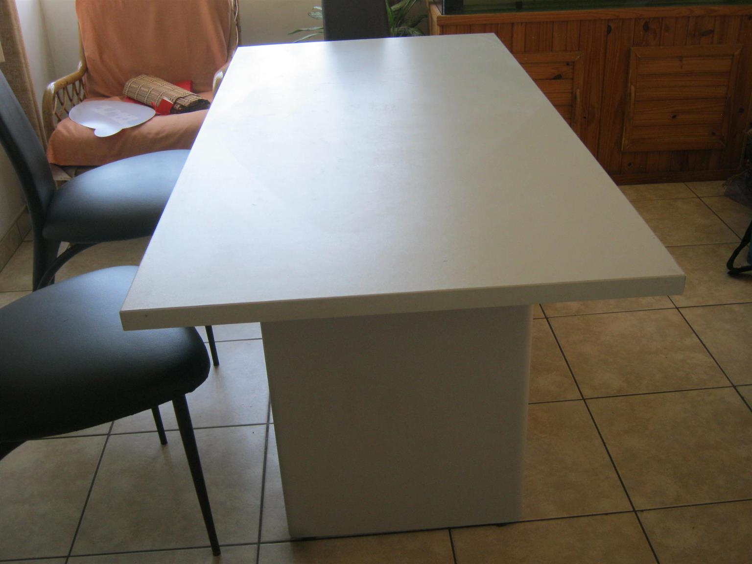 Solid Melamine Table For Sale