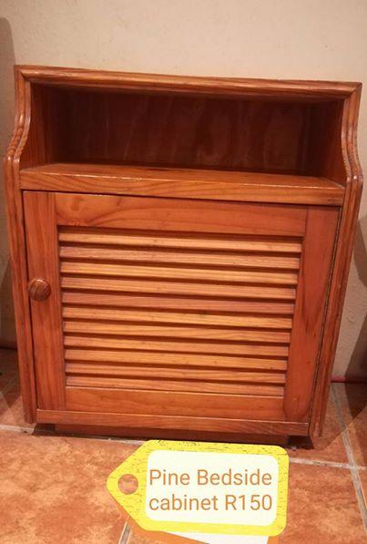 Pine bed side cabinet