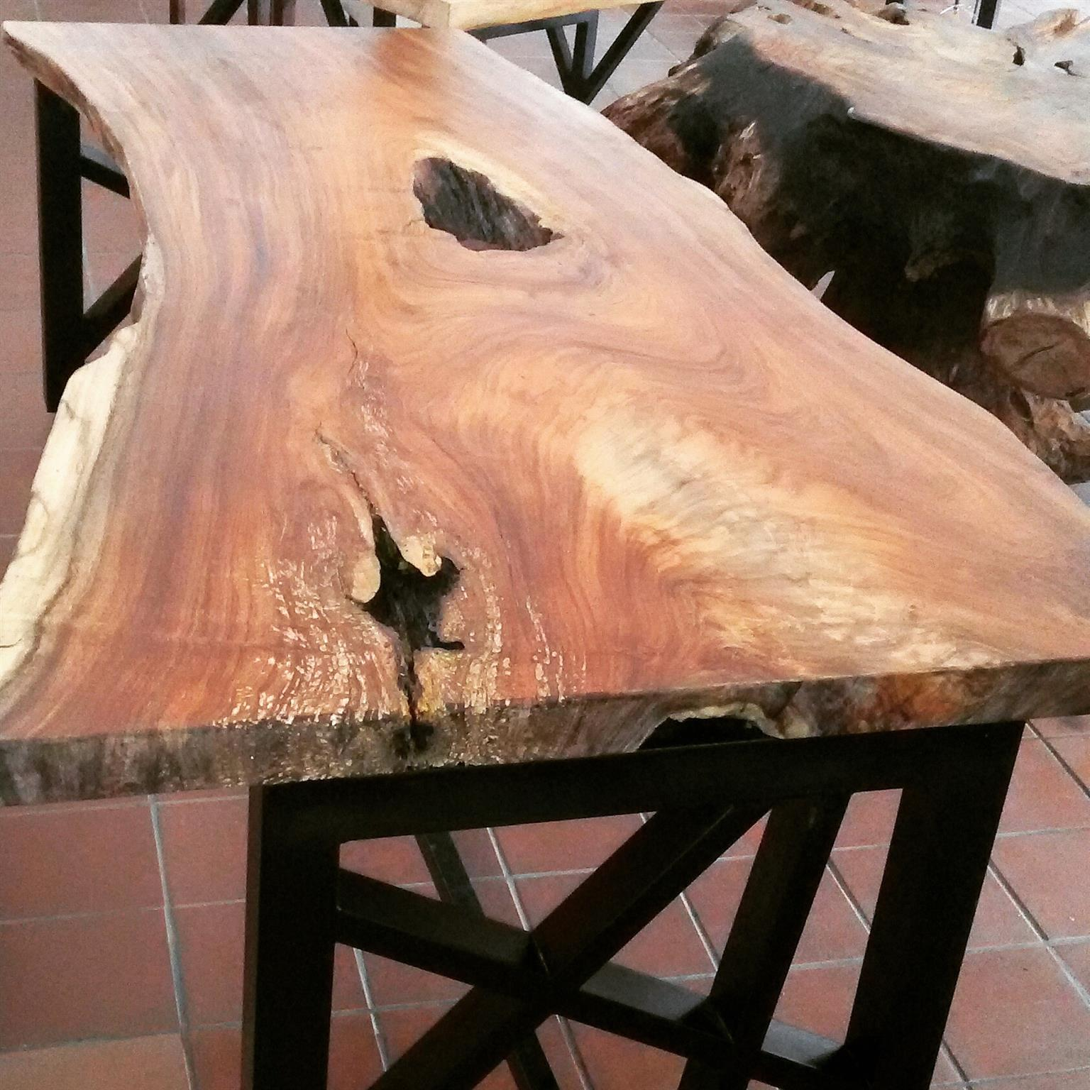 Handcrafted solid hardwood tables