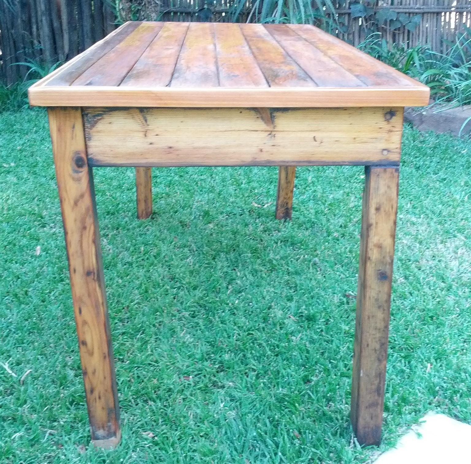 Table - Kitchen, restored old wood