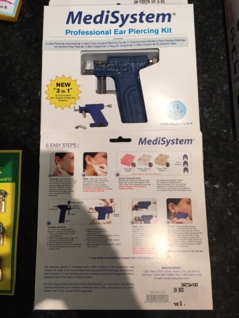 Ear Piercing Gun - Made in USA - NEW