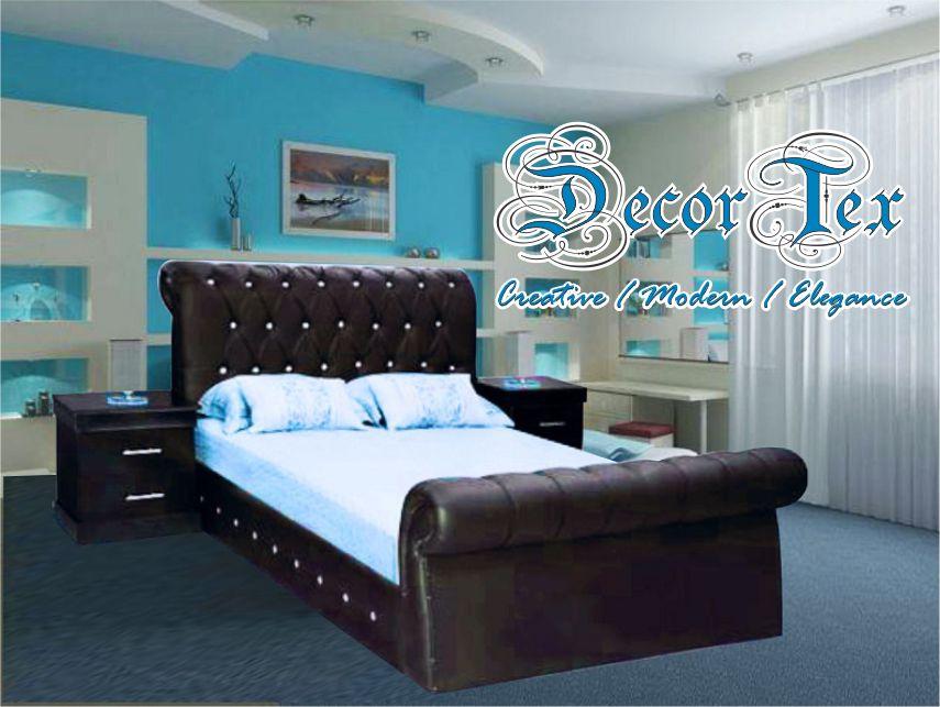 Diamante Curved Bedroom Collection DecorTex