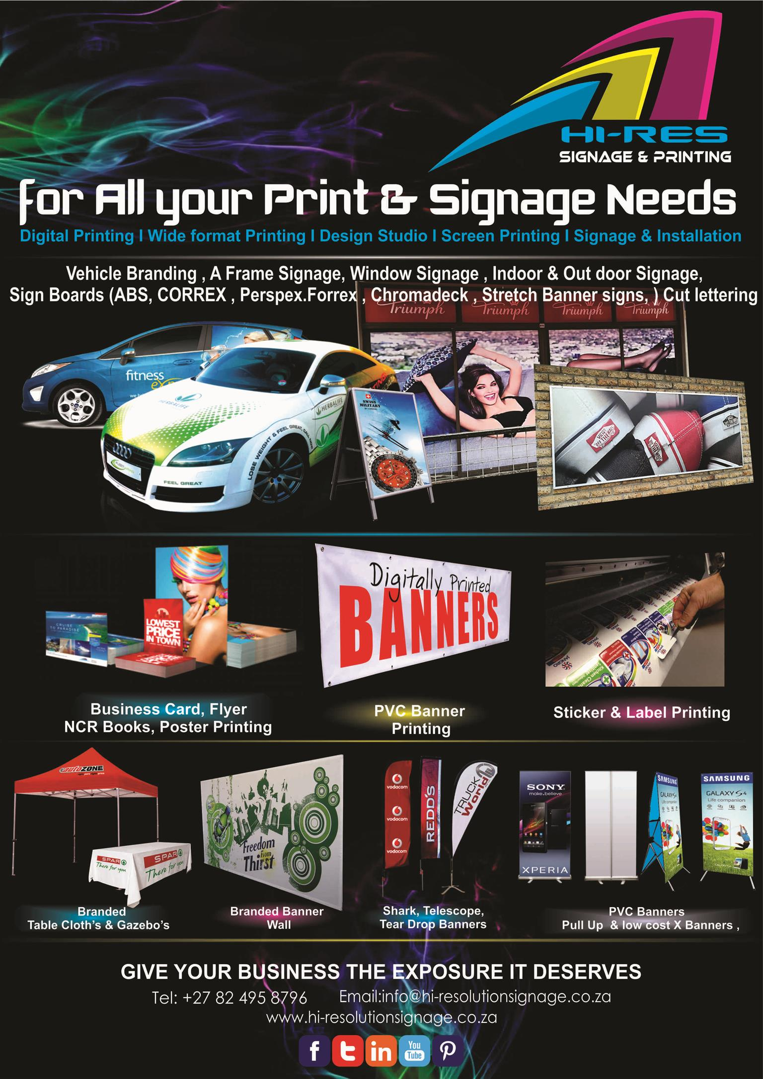 Hi resolution signage and printing junk mail cape town northern suburbs hi resolution signage and printing reheart Image collections