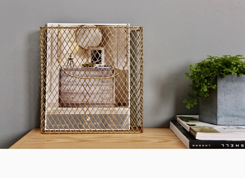 Industrial Style Magazine Storage Baskets - Office, Living room or Bedroom
