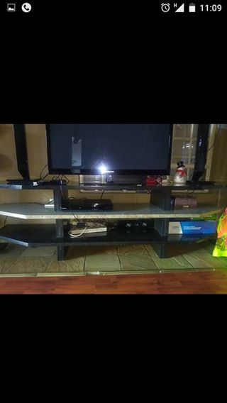 3 tier granite TV stand