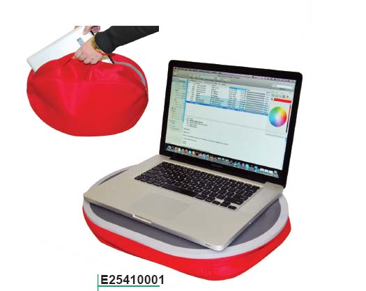 GREY AND RED PORTABLE LAP DESK CUSHION!! ON PROMOTION!!!