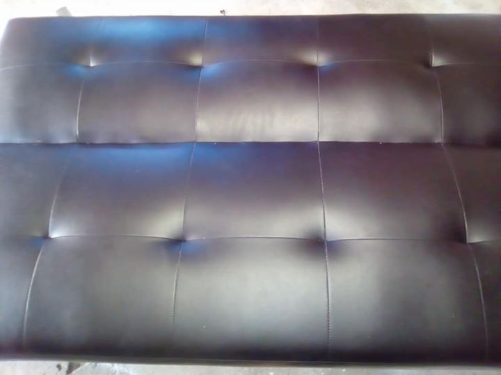 Dark brown sleeper couch for sale
