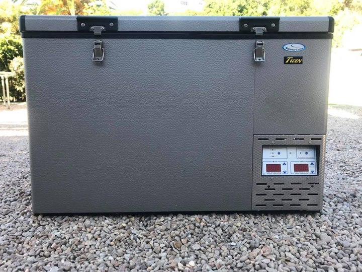 National luna 90l fridge with power pack
