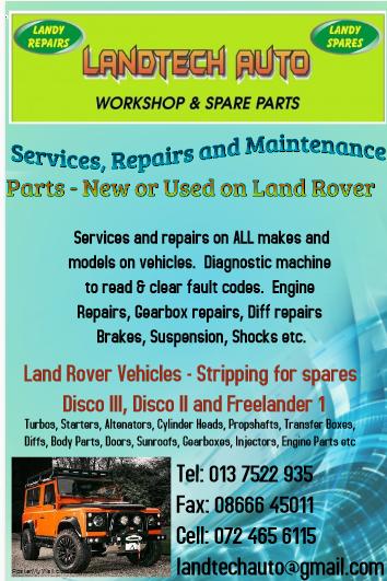 Services, Repairs, Maintenance & Land Rover Parts