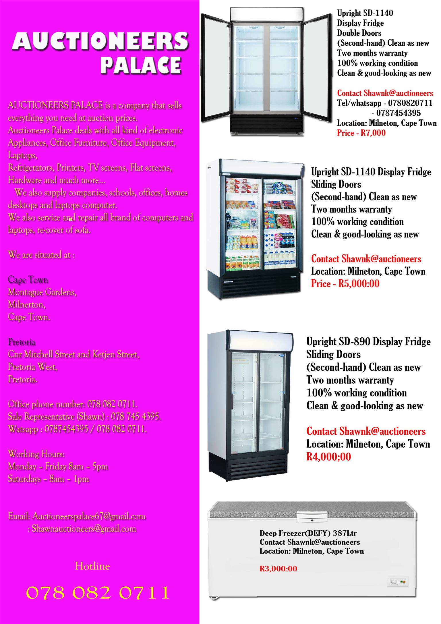 Commercial upright Display Fridge