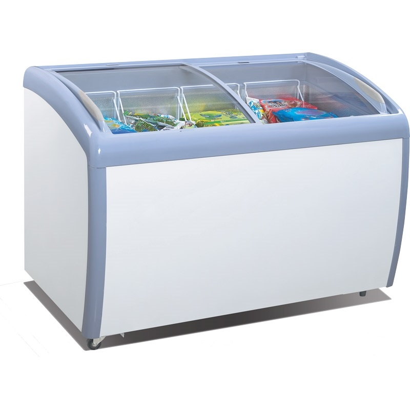 Atosa Glass Curved Top Display Freezer