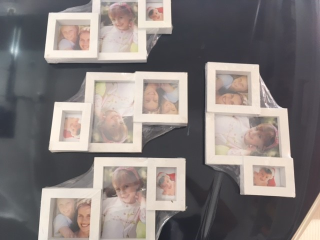 5 x White Photo Frames - New