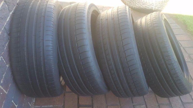 Set 245/45/20 Michelin Latitude Sport tyres fits Evoque Range Rover  R1000 each R4000 set