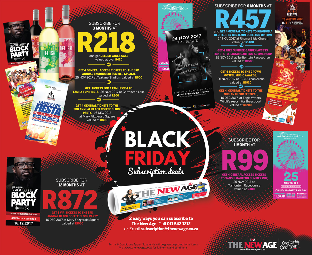 Black Friday Subscription Deals- Subscribe to The New Age