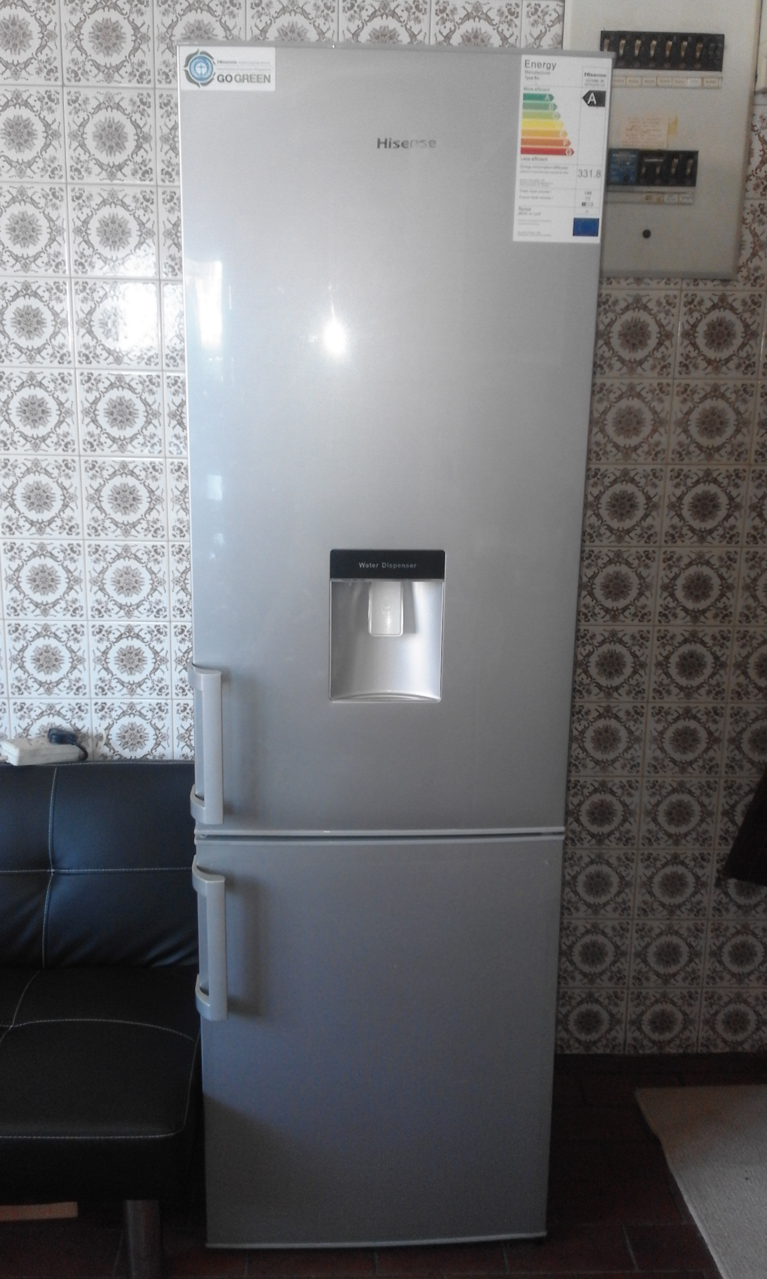HiSense Fridge. 18m old.Balance of 5y factory guarantee. As good ad new with water dispenser.