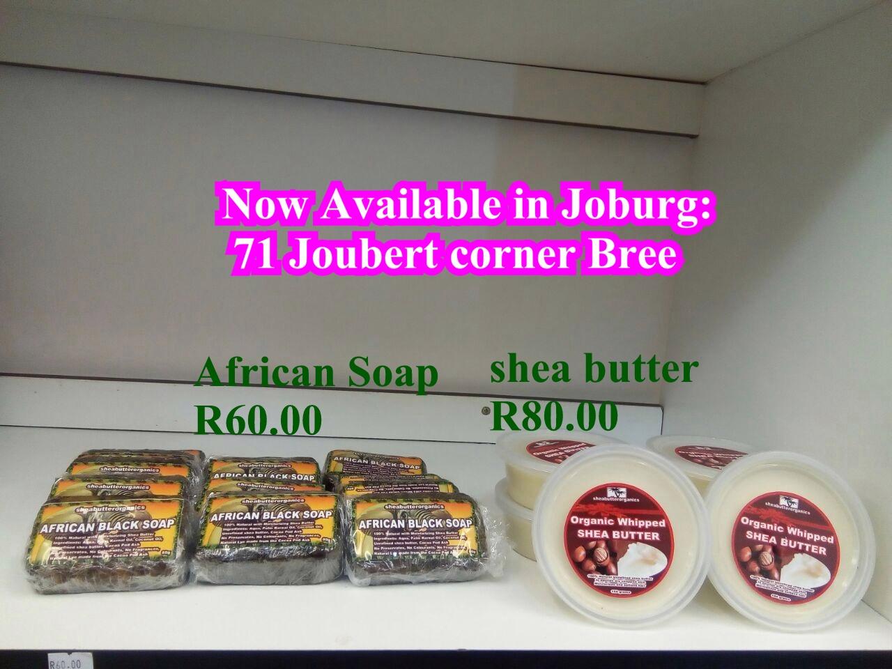 Unrefined shea butter and Jamaican Black Castor Oil