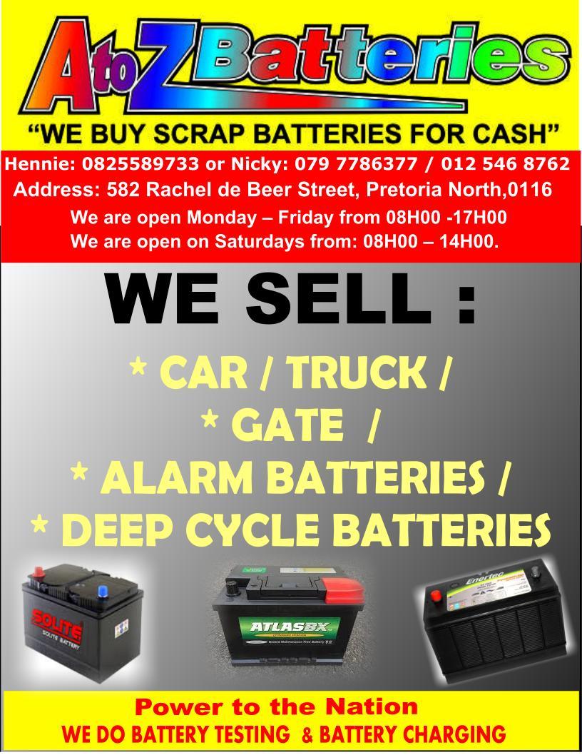 A To Z Batteries, Rachel de Beer Street, Pretoria North